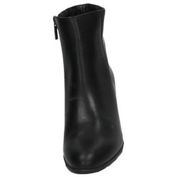 Moda Bella Botines elegantes Negro - Zapatos Botas de caña baja Mujer 4417