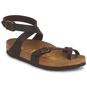 Zapatos Mujer Sandalias Birkenstock YARA PREMIUM Marrón