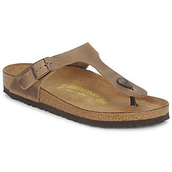 Zapatos Mujer Chanclas Birkenstock GIZEH Marrón