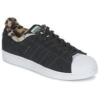 Zapatos Mujer Zapatillas bajas adidas Originals SUPERSTAR W Negro