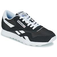 Zapatos Zapatillas bajas Reebok Classic CL NYLON Negro / Blanco