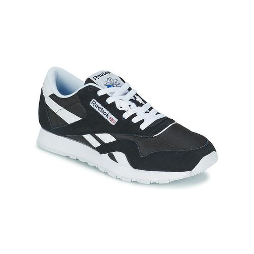 Zapatos especiales para hombres y mujeres Reebok Classic CL NYLON Negro / Blanco