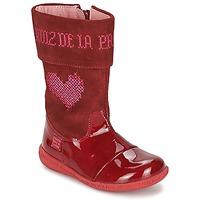 Zapatos Niña Botas urbanas Agatha Ruiz de la Prada DAFNE Rojo