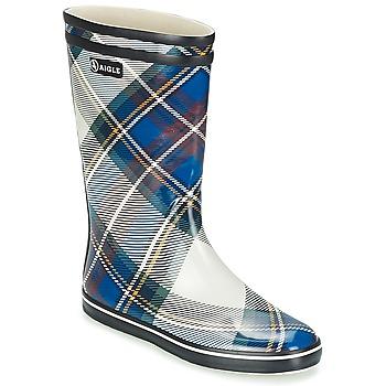 Zapatos Mujer Botas de agua Aigle MALOUINE PRINT Marino