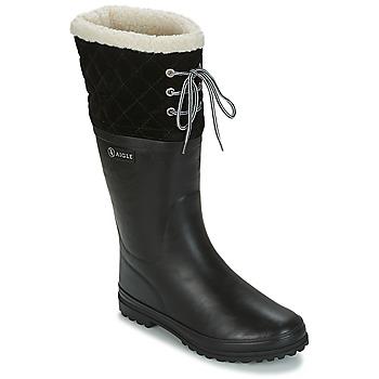 Zapatos Mujer Botas de agua Aigle POLKA GIBOULEE Negro