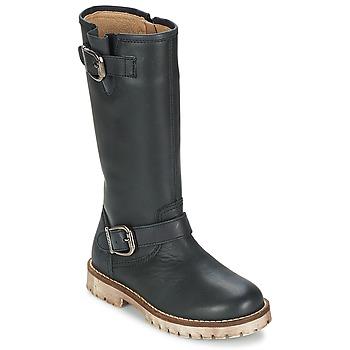 Zapatos Niña Botas urbanas Garvalin GALERA Negro