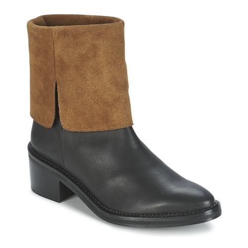 Zapatos Mujer Botas de caña baja Miista KAMILA Negro / Marrón