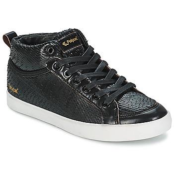 Zapatos Mujer Zapatillas altas Feiyue DELTA MID DRAGON Negro