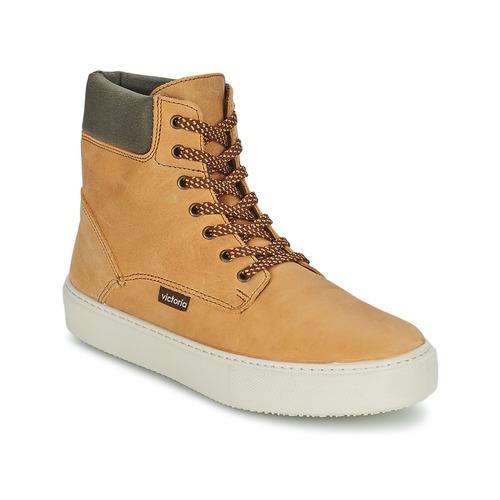 Zapatos Mujer Zapatillas altas Victoria BOTA MONTANA PIEL/CUELLO Ocre