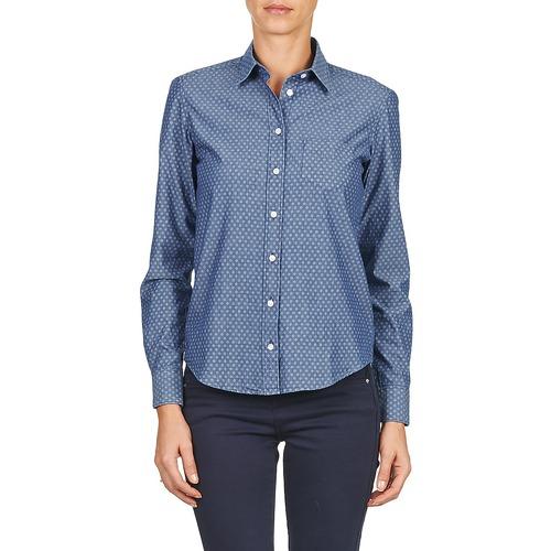 Azul Textil Exunide Mujer Gant Camisas ZiTOPkXu