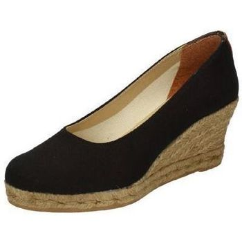Zapatos Mujer Alpargatas Torres Zapatos cuÑa esparto Negro