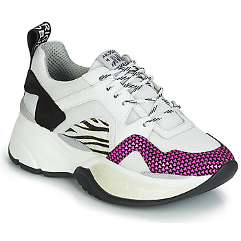 Zapatos Mujer Zapatillas bajas Meline ARGAGALI Blanco / Negro