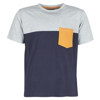 textil Hombre camisetas manga corta Casual Attitude JERMENE Gris / Marino
