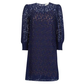 textil Mujer vestidos cortos MICHAEL Michael Kors BLOUSON SLV LACE DRS Marino