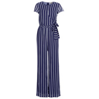 textil Mujer Monos / Petos MICHAEL Michael Kors MEGA RAILRD ST  JMPST Marino / Blanco