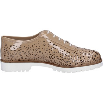 Zapatos Mujer Derbie La Regina elegantes beige charol BT793 beige
