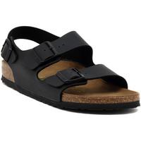 Zapatos Sandalias Birkenstock MILANO SCHWARZ Multicolore