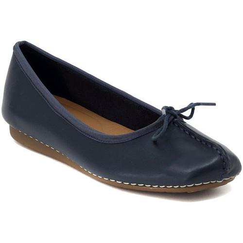 Zapatos Mujer Bailarinas-manoletinas Clarks FRECKLE NAVY Multicolore