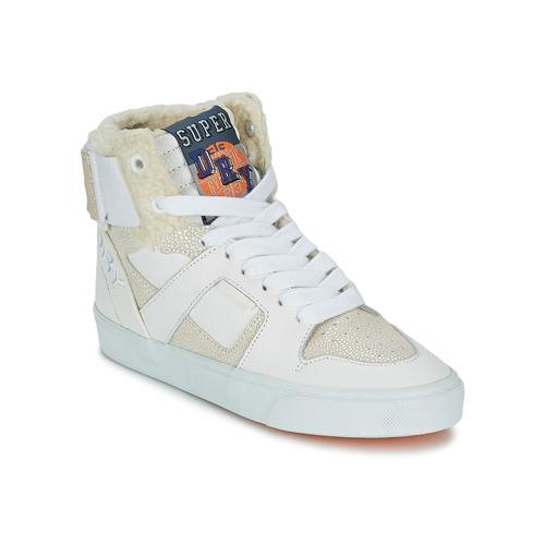 Zapatos Mujer Zapatillas altas Superdry MARIAH HIGH TOP Blanco