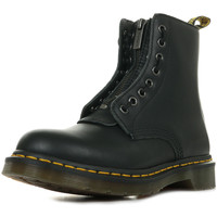 Zapatos Mujer Botas de caña baja Dr Martens 1460 Pascal Front ZIP Negro