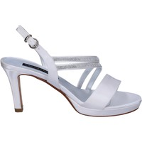 Zapatos Mujer Sandalias Bacta De Toi sandalias blanco satén strass BT845 blanco
