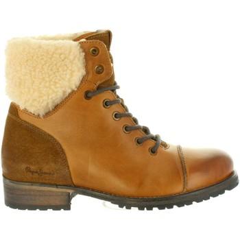 Zapatos Mujer Botas urbanas Pepe jeans PLS50329 MELTING Marr?n