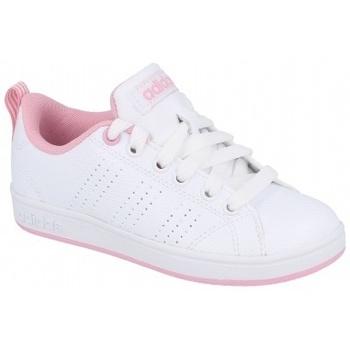 Zapatos Niños Zapatillas bajas adidas Originals VS Advantage CL K Pink blanco