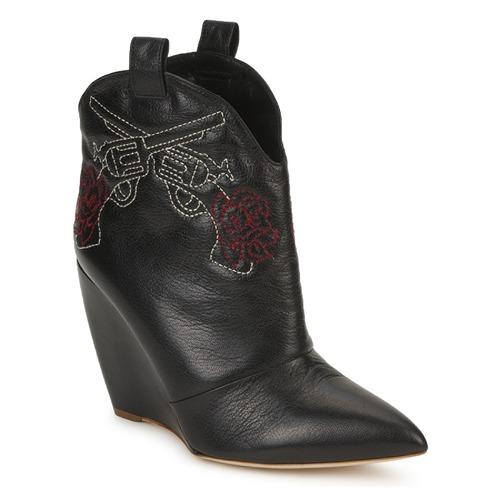 Zapatos promocionales Rupert Sanderson JUSSY NERO Negro / Rojo  Zapatos casuales salvajes