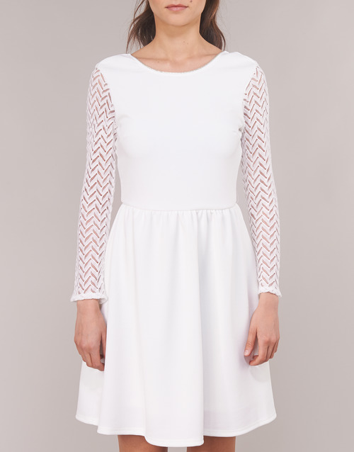 London Mujer Cortos Betty JLouise Textil Vestidos Blanco BoCedx