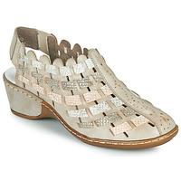 Zapatos Mujer Sandalias Rieker ROBERTO Plata