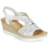 Zapatos Mujer Sandalias Rieker PASCALINE Blanco