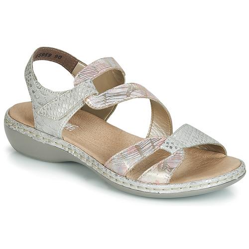 Amazu Plata Zapatos Rieker Sandalias Mujer iOkZTuPX