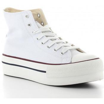 Zapatos Mujer Zapatillas altas Victoria TRIBU DOBLE 1061101 blanc