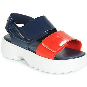 Zapatos Mujer Sandalias Melissa SANDAL + FILA Marino / Rojo / Blanco