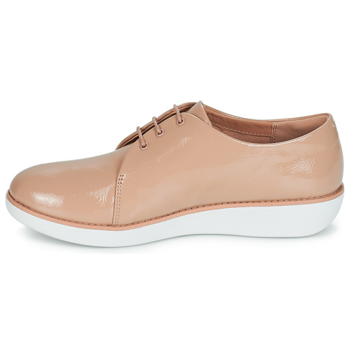 Fitflop Derby Crinkle Patent Topotea - Envío Gratis Zapatos Derbie Mujer 85