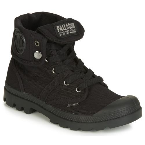 Baggy Botas De Baja Pallabrouse Caña Palladium Negro Mujer Zapatos GpSUVzMq