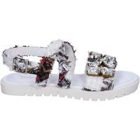 Zapatos Mujer Sandalias Ioannis sandalias blanco textil strass BT873 blanco