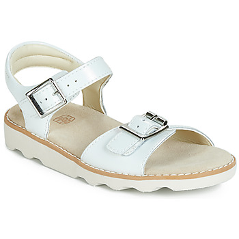 Zapatos Niña Sandalias Clarks Crown Bloom K Blanco