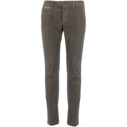 textil Hombre pantalones chinos Teleria Zed VE MADE IN ITALY barro