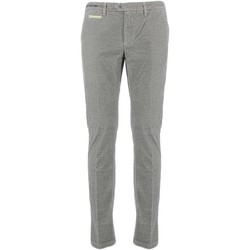 textil Hombre pantalones chinos Teleria Zed VE MADE IN ITALY gris