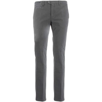 textil Hombre pantalones chinos Teleria Zed MADE IN ITALY ROBIN gris