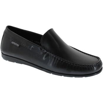 Zapatos Hombre Mocasín Mephisto ALGORAS Cuero liso negro