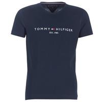 textil Hombre Camisetas manga corta Tommy Hilfiger TOMMY FLAG HILFIGER TEE Marino