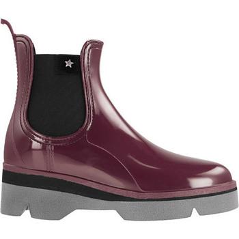 Zapatos Mujer Botas de agua Cubanas Galochas Derby210 Bordeuax Oro