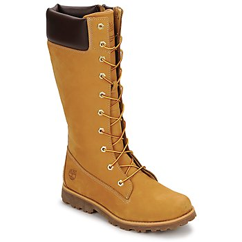 Zapatos Niños Botas urbanas Timberland GIRLS CLASSIC TALL LACE UP WITH SIDE ZIP COGNAC