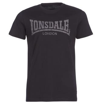 textil Hombre camisetas manga corta Lonsdale LOGO KAI Negro