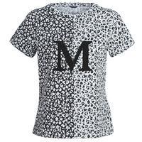textil Mujer camisetas manga corta Marciano RUNNING WILD Negro / Blanco