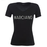textil Mujer Camisetas manga corta Marciano LOGO PATCH CRYSTAL Negro