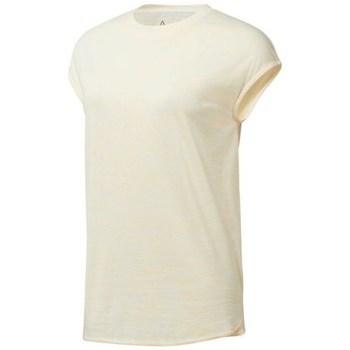 textil Mujer camisetas manga corta Reebok Sport EL Marble Tee Beige