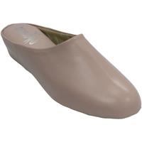 Zapatos Mujer Pantuflas Deisidro Zapatillas mujer piel abierta atrás esta rosa